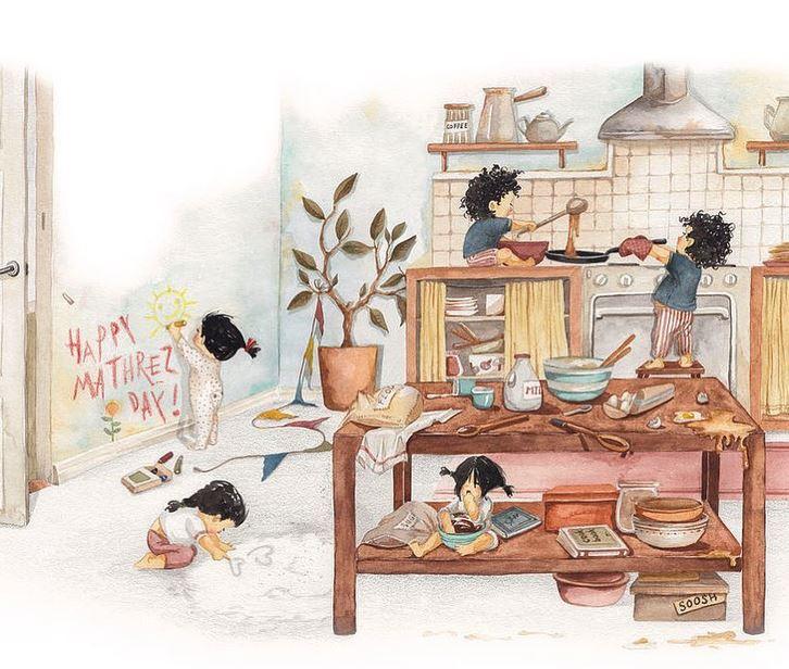 Художниця малює теплі ілюстрації про сім ю. Дивлячись на них ... 7b656796389a7